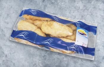 Egg-dipped  frying fish fillet